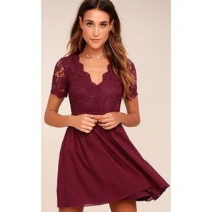 Lulu's Angel In Disguise Lace Skater Dress.